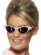 1950's Rock 'n' Roll Specs, Pink With Diamante
